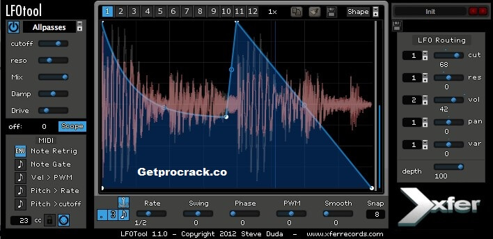 Xfer Records LFO Tool v1.6.9 Crack + Serial Key Win/Mac Free Download 2021