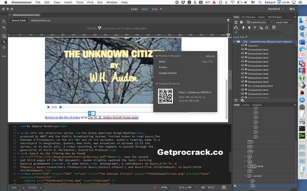 Adobe Dreamweaver CC 2021 Crack & Keygen 21.1.15413 Download